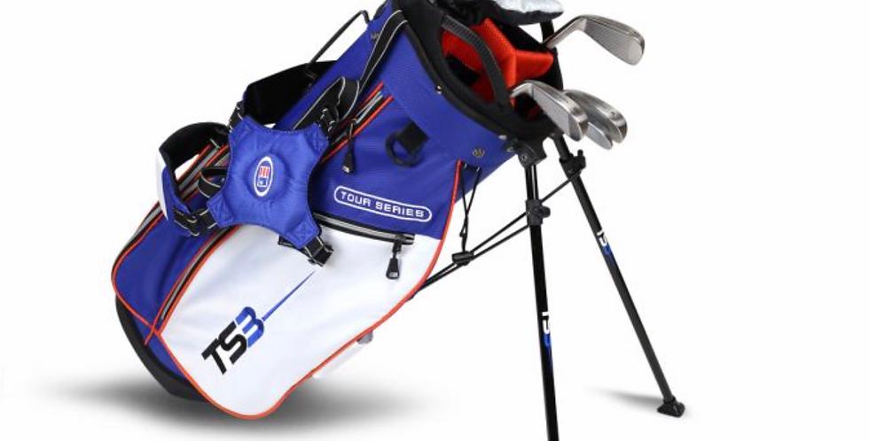 TS3-51 7 Club Set, Graphite Shafts, Royal/White/Orange Bag