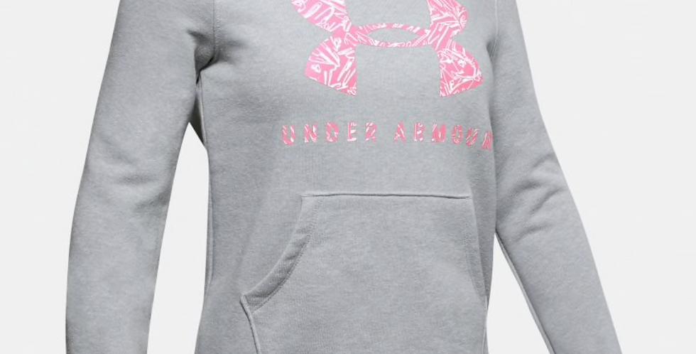 UA Jnr Rival Print Fill Logo Hoodie
