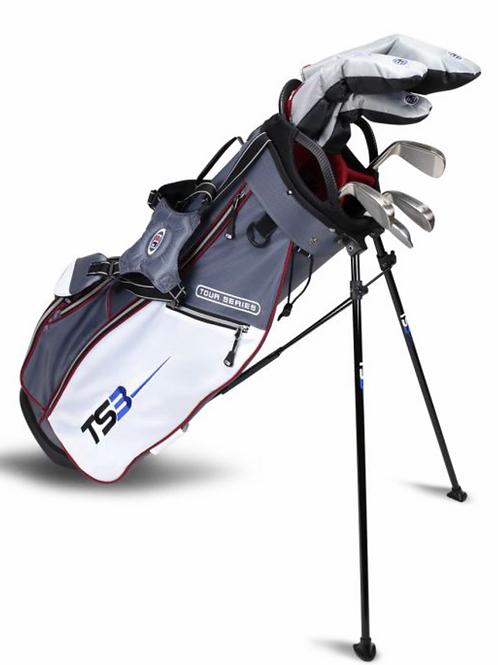 TS3-60 7 Club Set, Combo Shafts, Grey/White/Maroon Bag