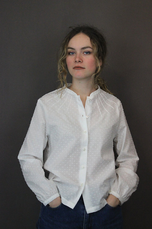Plumetis shirt -white on white-