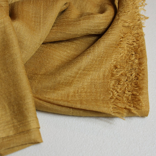 Light cachemire scarf -mustard-