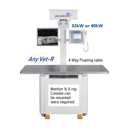 Ecotron Any-Vet-R X-Ray System & 4-way floating table 32 / 40Kw