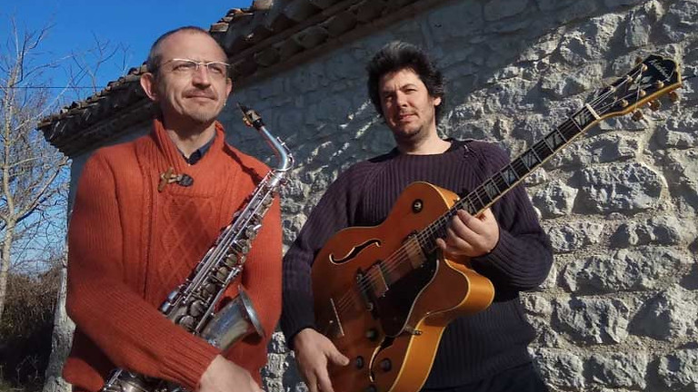 Dîner concert dans le jardin avec Nicolas Grandjean et Joachim Larroque (jazz)