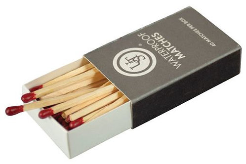 UST WATERPROOF MATCHES 4-PACK 40 MATCHES PER BOX