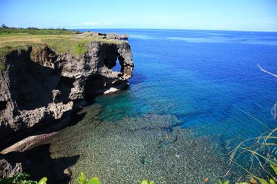 沖繩景點:中部 萬座毛 象鼻岩