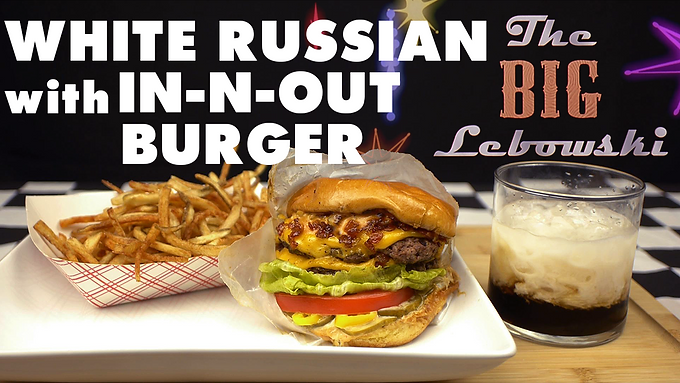 WHITE RUSSIAN with IN-N-OUT BURGER from THE BIG LEBOWSKI (1998)