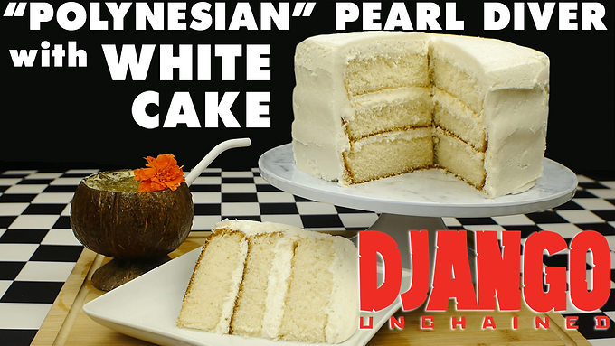 """POLYNESIAN"" PEARL DIVER with WHITE CAKE from DJANGO UNCHAINED"