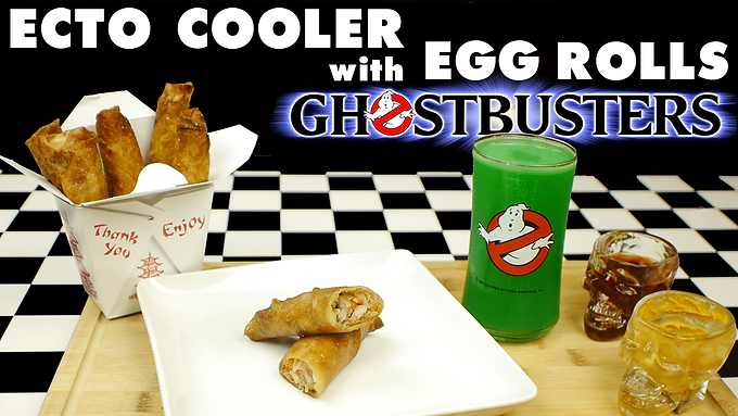 ECTO COOLER with EGG ROLLS  from GHOSTBUSTERS (1984)