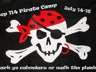 Arrrgh, Pirate Camp.