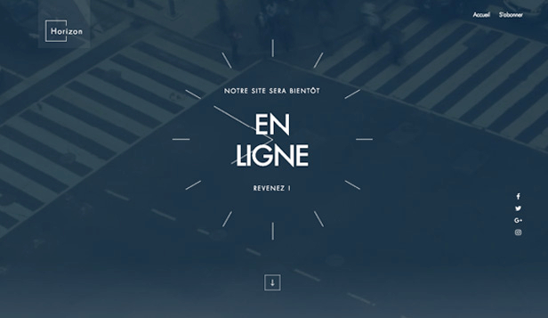 En Construction website templates – Landing Page à venir