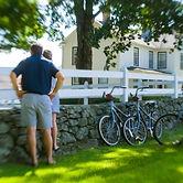 Couple Exploring Winvian Farm by Bike