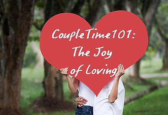 Couple Holding Heart Sign for CoupleTime 101: The Joy of Loving Retreat