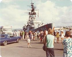 Burr's ship, Pearl Harbor, Hawaii