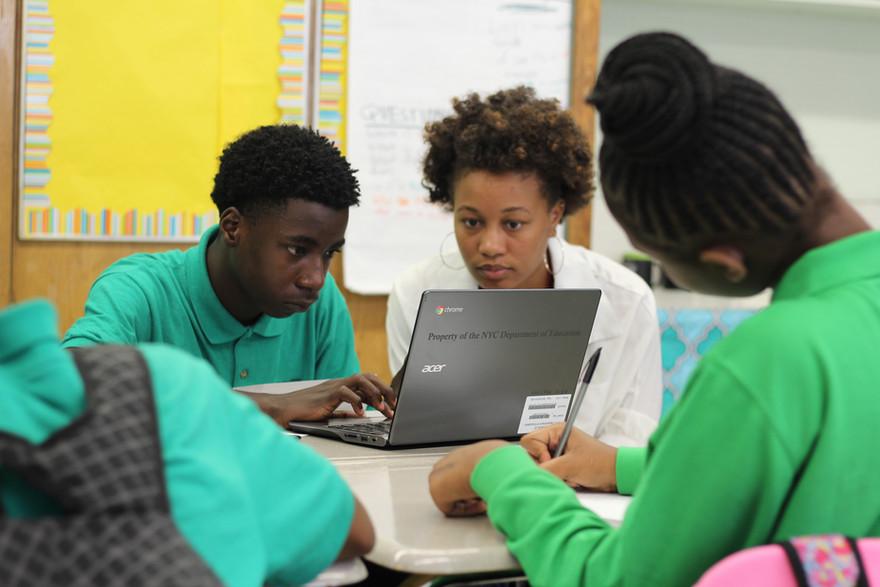 Student using technology
