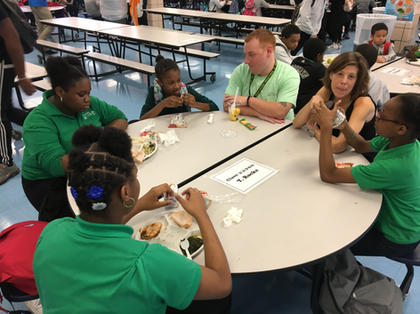Teachers and Students at Lunch