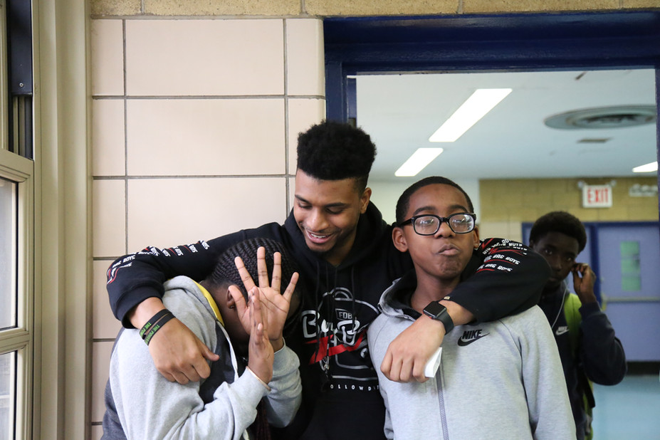 Mr. C with students