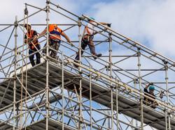 Guys on scaffolding