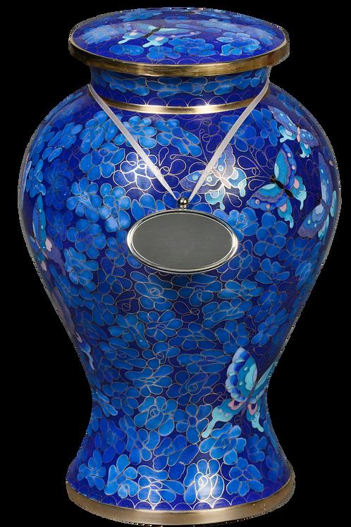 160L Elysse Blue Cloisonné (Solid Brass)