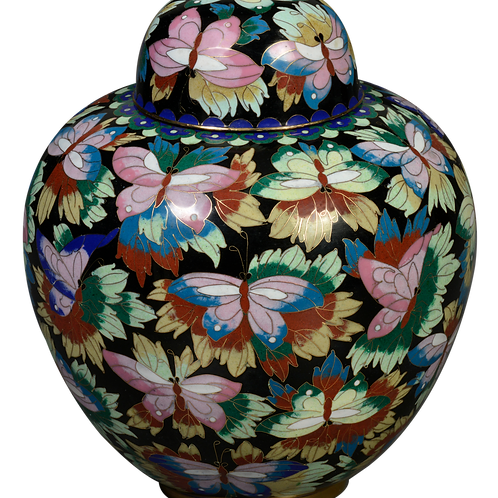 832 Butterfly Copper Cloisonné (Solid Brass)
