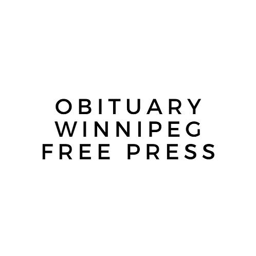 Winnipeg Free Press Obituary Publication
