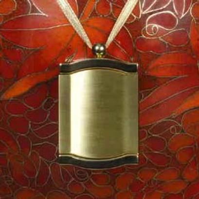 C403 Bronze Frame Urn Pendant (Brass)