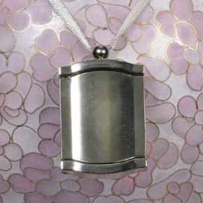C402 Pewter Frame Urn Pendant (Brass)