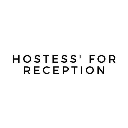 Hostess Staff for Receptions