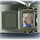Thumbnail: C402 Pewter Frame Urn Pendant (Brass)