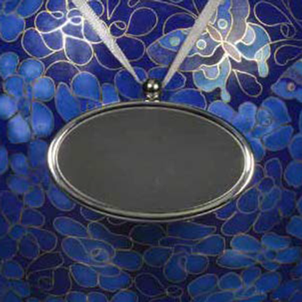 C401 Pewter Oval Urn Pendant (Brass)