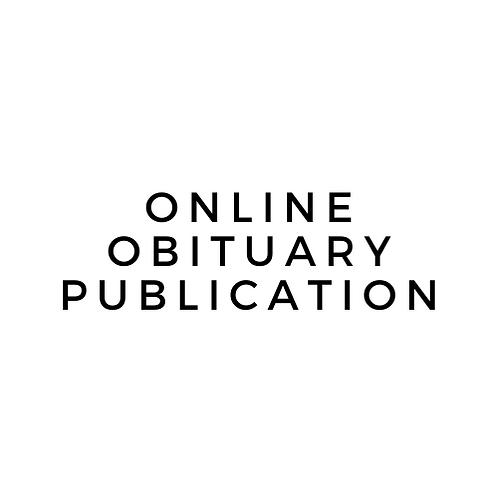 Obituary Publication - Any Length