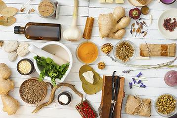 Herbal-Medicine-Restore-Dry-Needling-A-variety-of-herbs-used-in-herbal-medicine