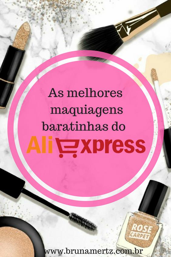As melhores maquiagens baratinhas do AliExpress!