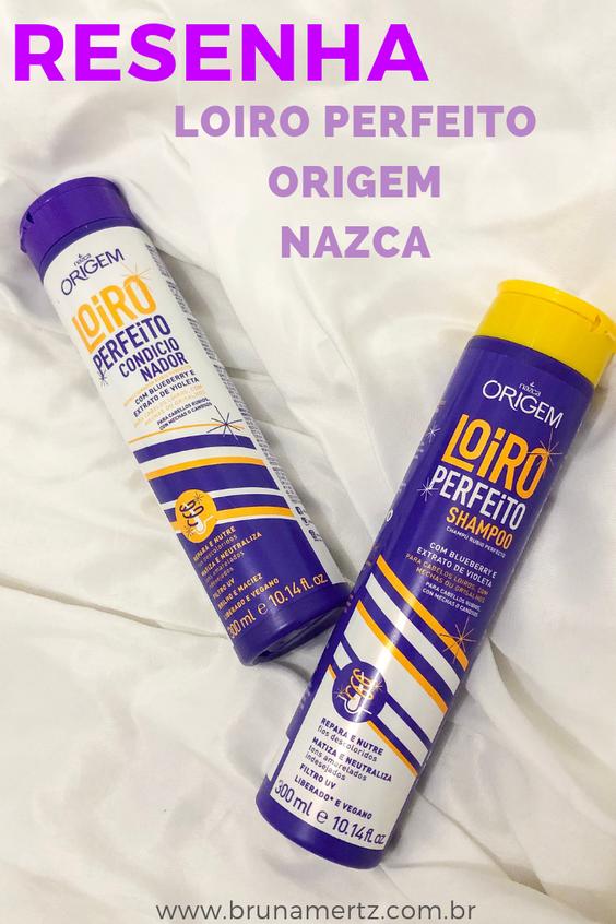 RESENHA: Shampoo e Condicionador LOIRO PERFEITO | Origem NAZCA