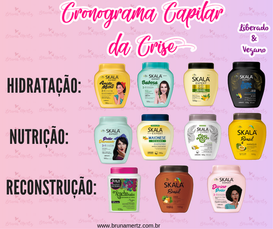 CRONOGRAMA CAPILAR DA CRISE COM SKALA