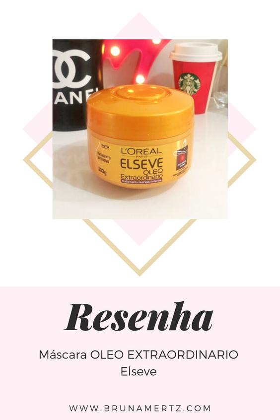 Resenha: Mascara Oleo Extraordinario Elseve
