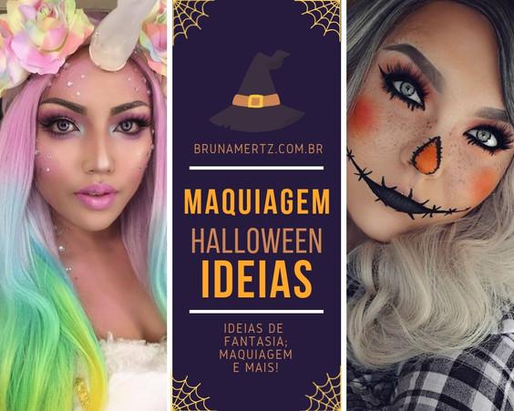Halloween: Maquiagens e fantasias criativas!