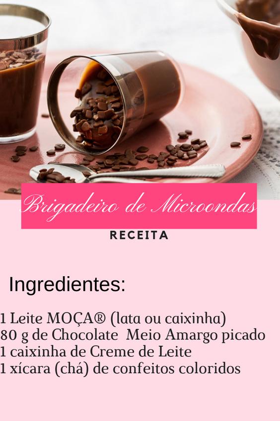 RECEITA FACIL BRIGADEIRO DE MICROONDAS