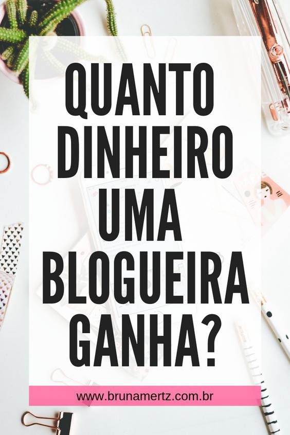 Quanto ganha uma blogueira?