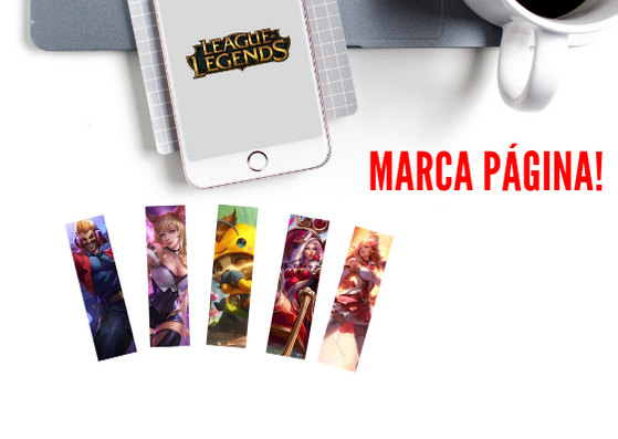 MARCA PAGINAS ESPECIAL LEAGUE OF LEGENDS