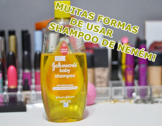 Muitas formas de usar shampoo de neném!
