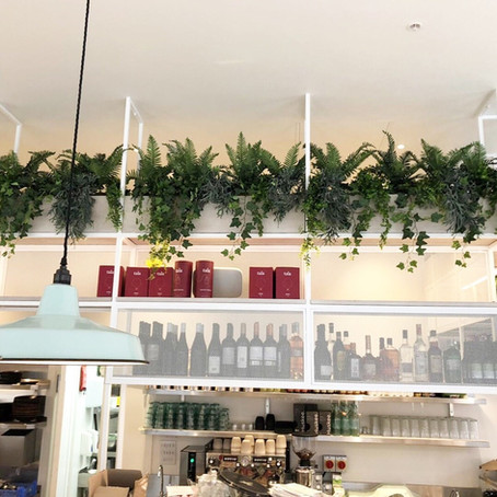 Artificial Fire Retardant Plants For The New Stem & Glory Restaurant