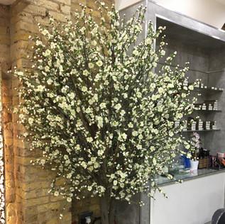 Artificial White Blossom Tree