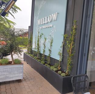 Restaurant Exterior Planters and Live Plants