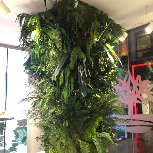 Biophilic Preserved Plant Wall Column For Timberland