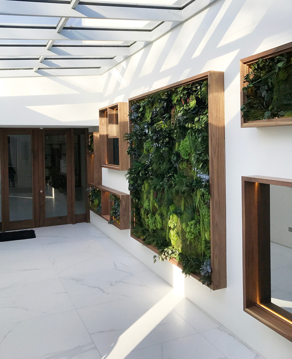 Biophilic Interior Design Plant Wall