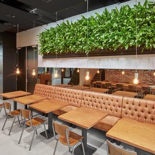 Biophilic Restaurant Living Wall