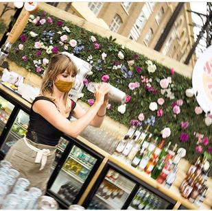 Bar Flower Wall at Hays Galleria