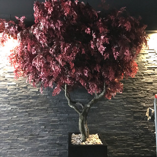 Large artificial red maple tree by Arti
