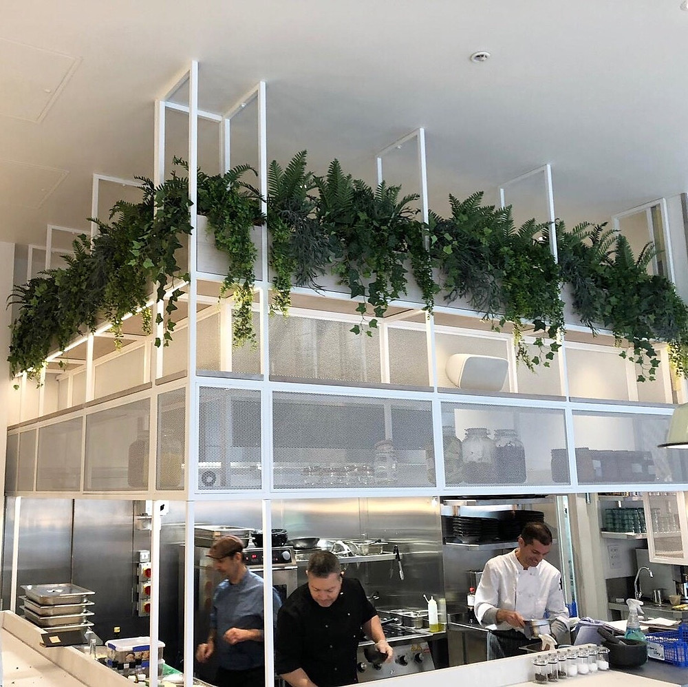 Artificial restaurant plants by Arti Green