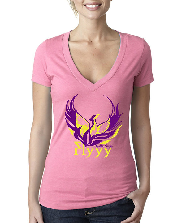 Womens Flyyy by iRoc Omega low cut v-neck t-shirt